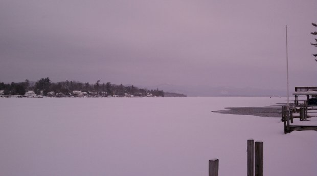Snow Day on Lake George